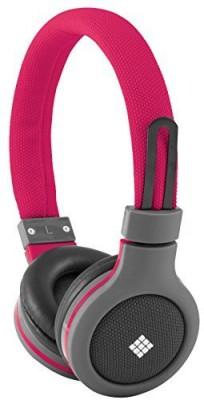 Polaroid Php120Pk Canvas Headphones With Mic, Noise Isolation Headphones