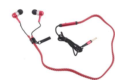 Hexadisk HexazipRed-002 Zipper Red Headphone Wired Headphones