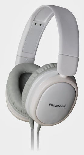Panasonic RP-HX250E Wired Headphones(White, Over the Ear)