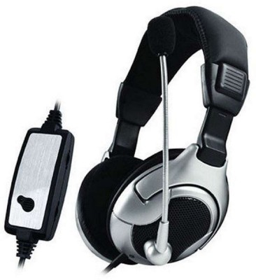 unknown USB vibrate Computer Headsets Wired Headset With Mic(black/silver)