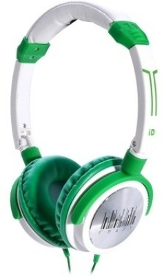 iDance Crazy 411 Wired Headset With Mic(Green and White)
