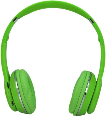 Mesta s460 Wireless Wired & Wireless Bluetooth Headset With Mic(Green)