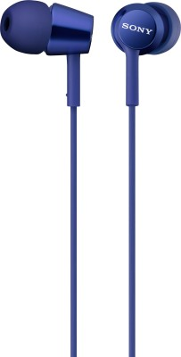 Sony MDR-EX150AP Wired Headset With Mic(Blue)