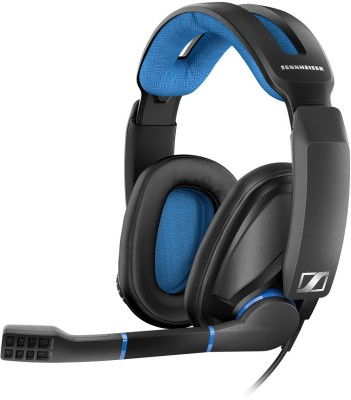 Sennheiser GSP 300 Wired Headset With Mic(Black and Blue)