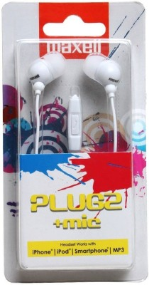 Maxell Plugz Mic In Ear Headset