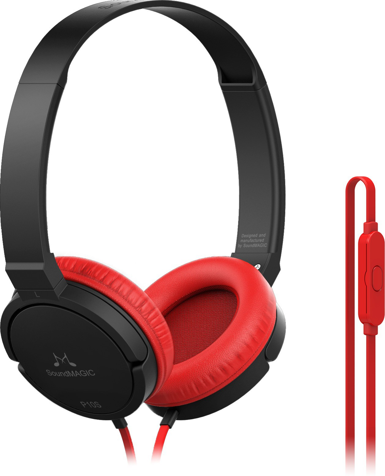 SoundMagic P10S Wired Headset With Mic(Red Black)