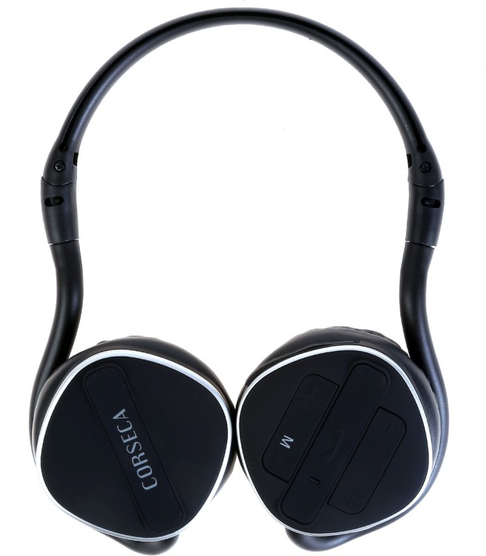 Corseca Wireless Headphones::TF Card MP3 Playback Wireless Bluetooth Headset With Mic(Black)