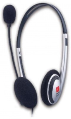 Iball i342MV (Silver) Wired Headset With Mic(Silver)