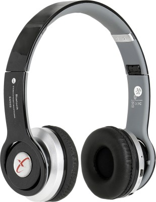 Head Nik Stereo Dynamic Wireless Bluetooth Headset With Mic(Black, Silver)