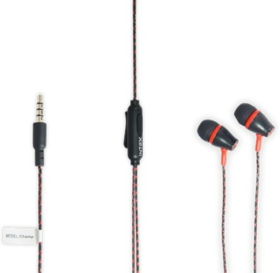 Intex 301 Wired Headset With Mic(Red)