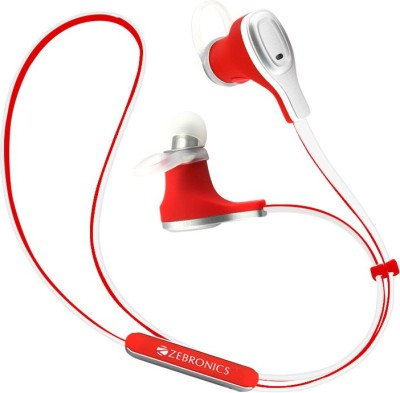 Zebronics BH370 Wireless Bluetooth Headset With Mic(Red)