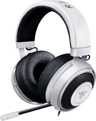 Razer Kraken Pro V2 Analog Gaming Headset Circular Ear Cushions Wired Headset With Mic(White)