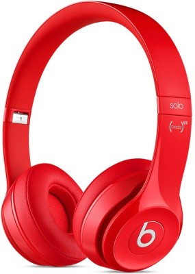 Beats Solo2 Wired & Wireless Bluetooth Headset With Mic(Red)