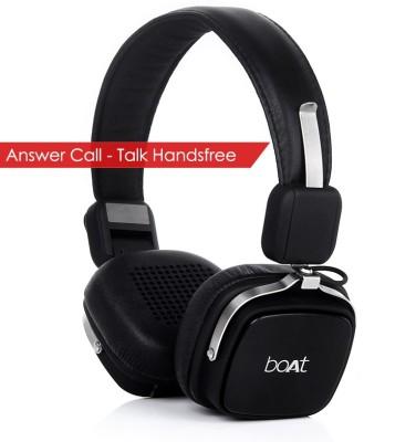 boAt Rockerz 600 Wired & Wireless Bluetooth Headset With Mic(Black)