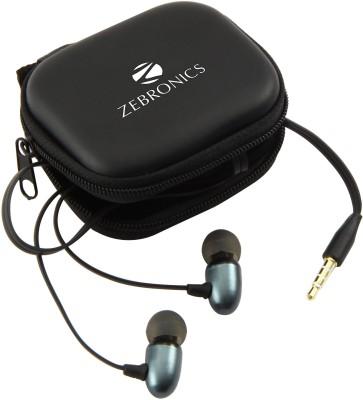 Zebronics Em2 Blue Wired Headset With Mic(Black)