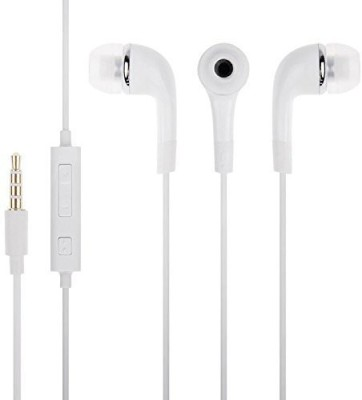MS KING Oppo F1s Compatible Stereo Sound Handsfree Earphone (White, In the Ear) Wired Headset With Mic(White)