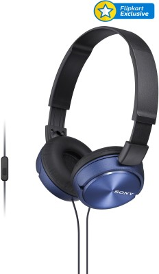 Sony MDR-ZX310APL Wired Headset With Mic(Blue)