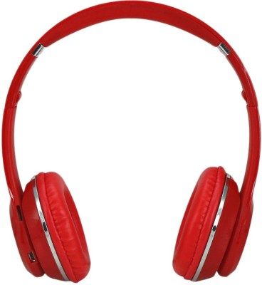 Mesta s460 Wireless Wired & Wireless Bluetooth Headset With Mic(Red)
