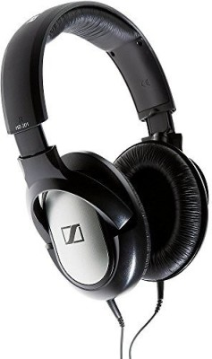 Sennheiser HD201 Wired Headset With Mic(Black)