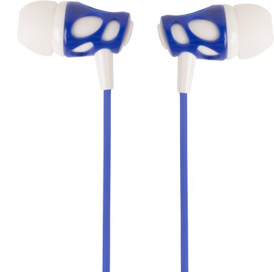 Zoon Signature VM-38 White Blue earphone for Micromax Canvas Selfie A255 Wired Headset