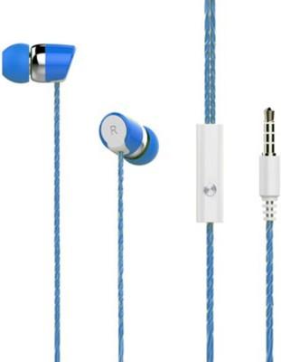 Fabson 3.5 MM Premium Earphones Blue Wired Headset