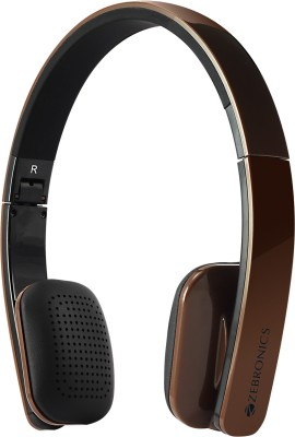 Zebronics Happy Head Brown Wireless Bluetooth Headset