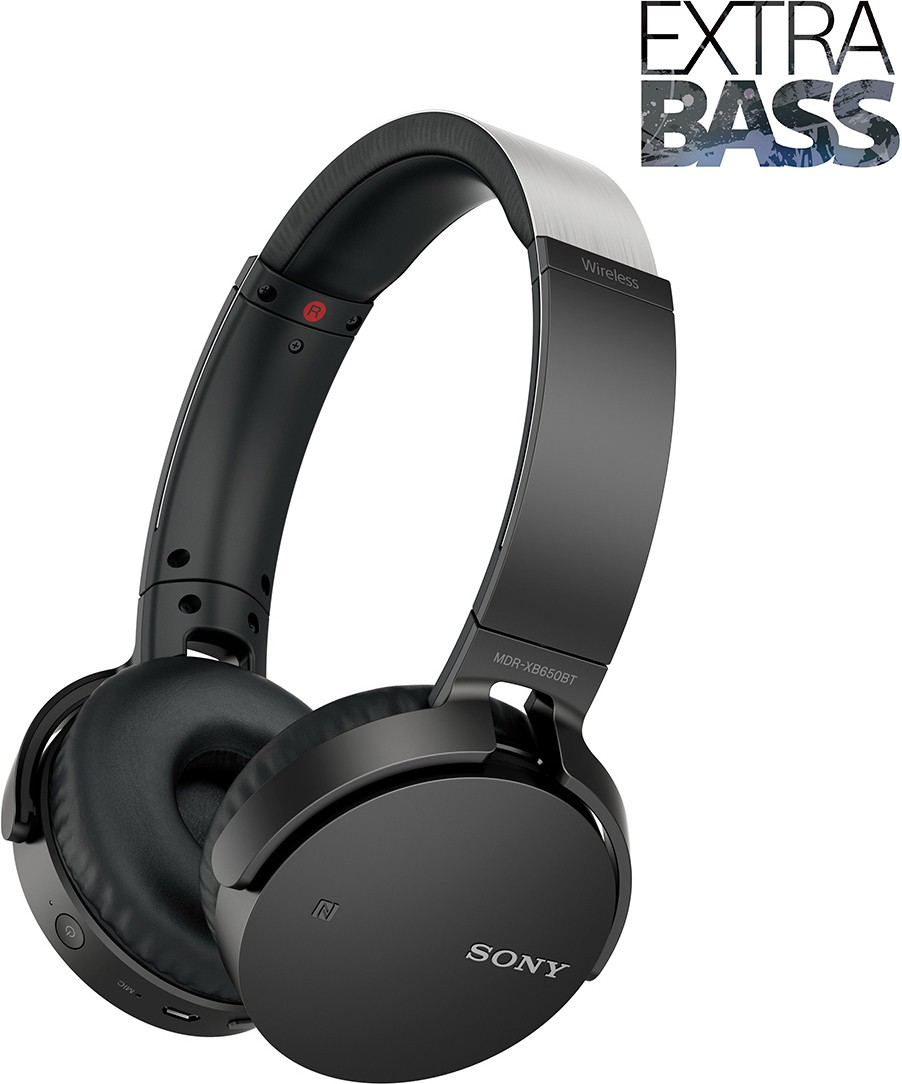 Sony MDRXB650BTZBE Extra Bass Wireless Bluetooth Headset With Mic(Black)