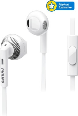 Philips SHE3205 Wired Headset With Mic(White)