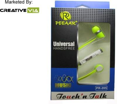CreativeVia Peeaar Pr-205 Boom Sound Earphone With Mic Wired Headset