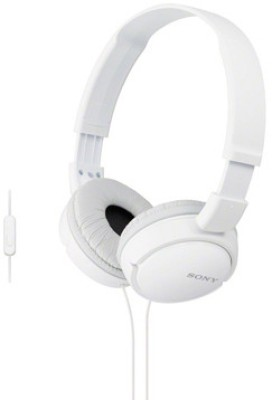 Sony MDR-ZX110-AP Wired Headset With Mic(White)