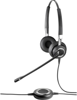 Jabra BIZ 2300 Duo, NC Wired Headset With Mic(Black)