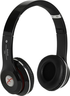 Head Nik Stereo Dynamic Wireless Bluetooth Headset With Mic(Black)