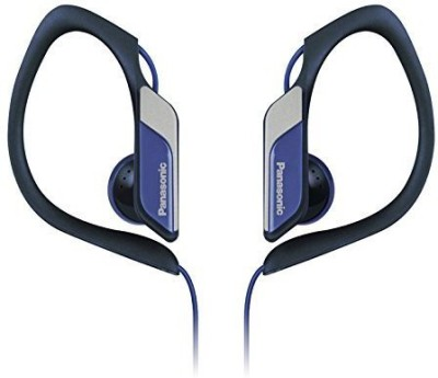 Panasonic HS34E Water/Sweat Resistant Sports Wired Headset With Mic(Blue)