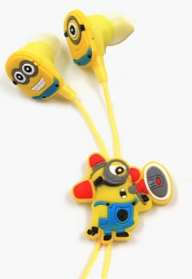 A Connect Z Cartoon Design Minions Ear Clarity Quality sound Headst - 283 Wired Headset With Mic(Yellow)