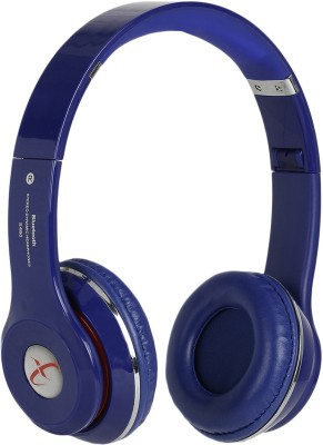 Head Nik Stereo Dynamic Wireless Bluetooth Headset With Mic(Blue)