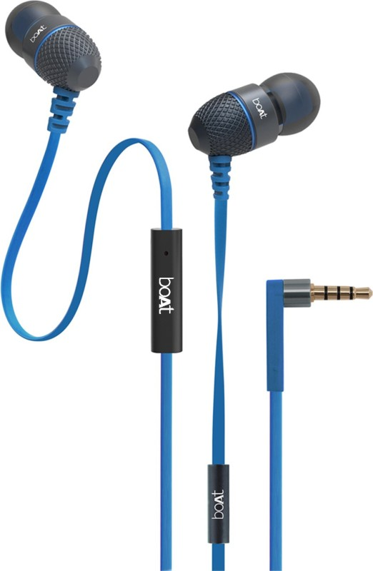 boAt BassHeads 220 Wired Headset With Mic(Blue)