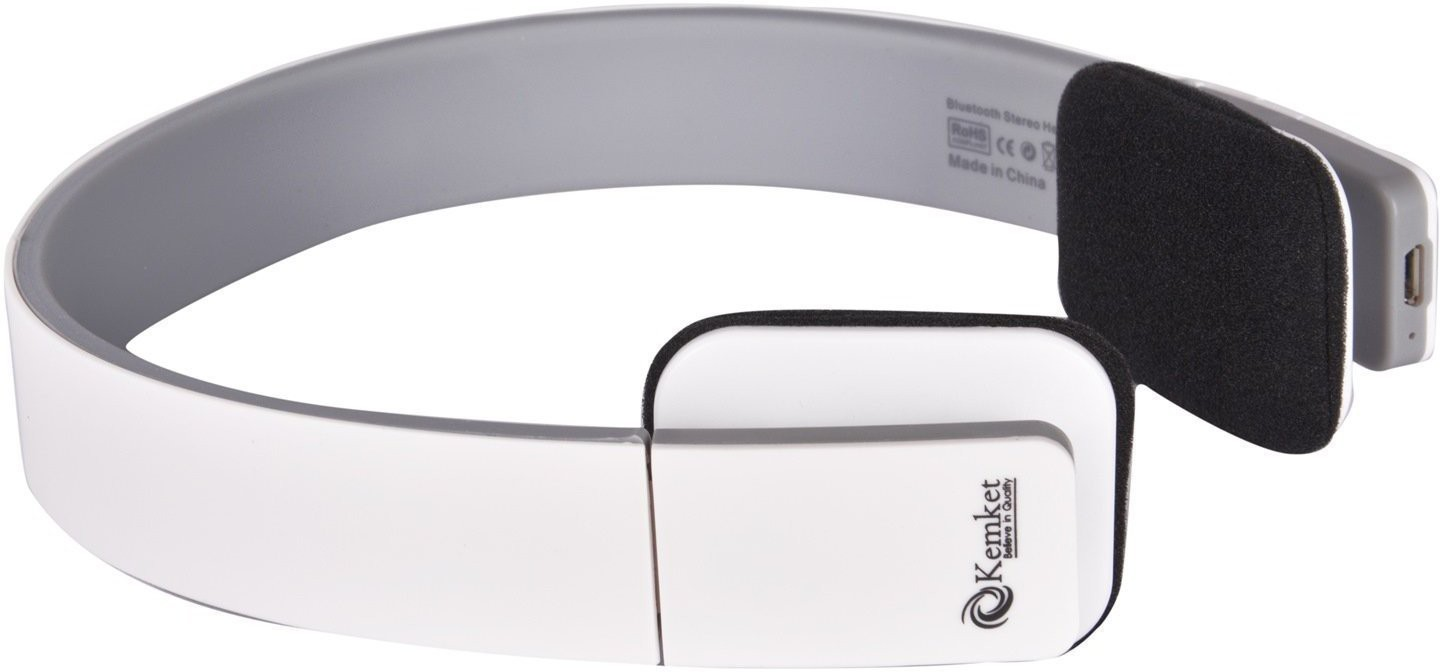 Kemket HIGH COMPATIBILITY Wireless Bluetooth Headset With Mic(White)