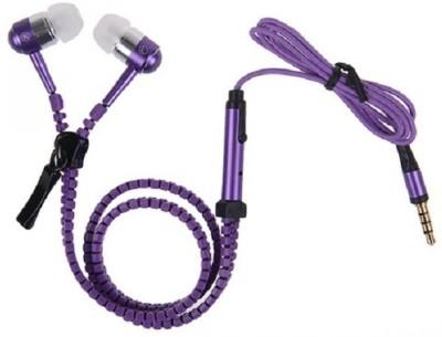 Zoon Zipper Purple earphone for Oppo Find 7 Wired Headset