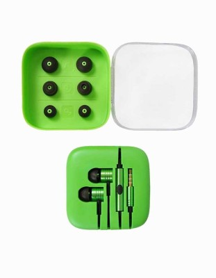 Kewin Stereo Wired MIPlastic Box- Green Wired Headset