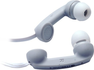 Zebronics Tunes Wired Headset With Mic(White)