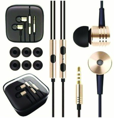 A Connect Z Mi-Pistone-Stylish good Sound Hdst-266 Wired Headset With Mic(Gold)