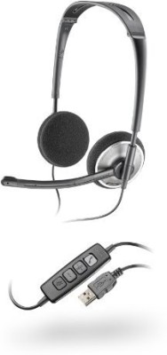 Plantronics Audio 478 Stereo USB Wired Headset With Mic(Black)