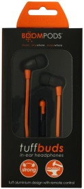 Boompods Tuffbuds Strong Wired Headset With Mic(Orange)