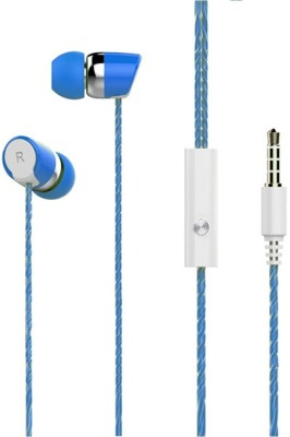 iCopertina Compatible Stereo Earphones / Handsfree With Mic For LeEco Le 1s Eco With 3.5mm Jack SPL BLUE Wired Headset