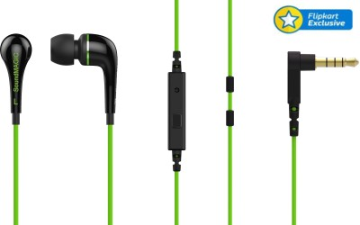 SoundMagic ES11S Wired Headset With Mic(Black and Green)