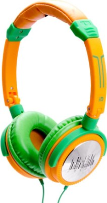 iDance Crazy 401 Wired Headset With Mic(Orange and Green)