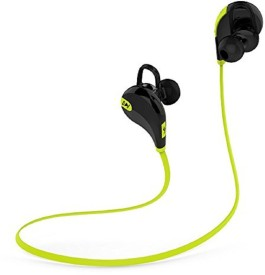 Sportzee QY7 Jogger Stereo Dynamic Headphone Wireless bluetooth Headphones(Green, In the Ear)