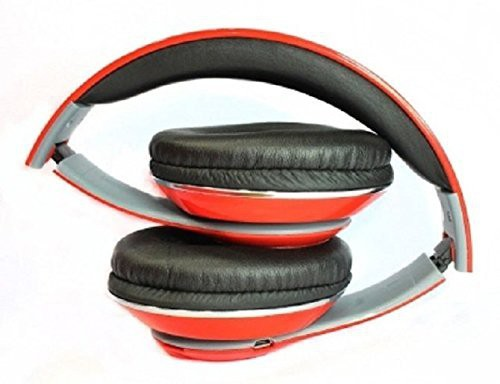 Aomax TM010 Wired & Wireless Bluetooth Headset With Mic(Red)