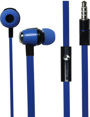 Kewin Stylish Handsfree Bj Gold 786 Blue Wired Headset