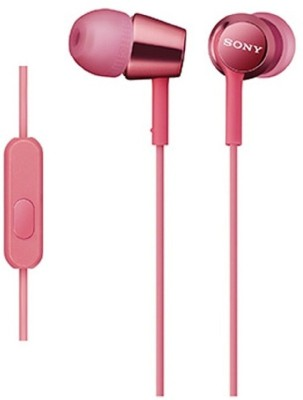 Sony MDR-EX150AP_Light Pink Wired Headset With Mic(Light Pink)